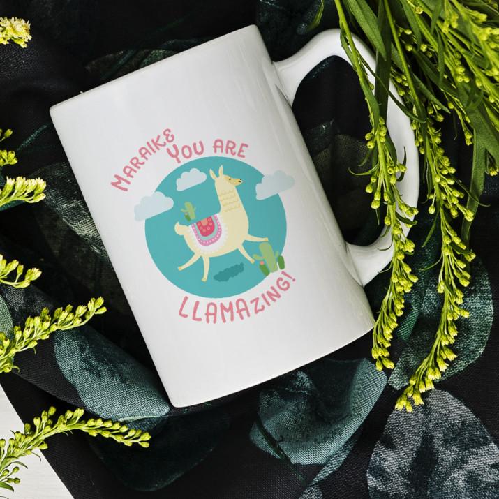 Llamazing - personalisierte Tasse