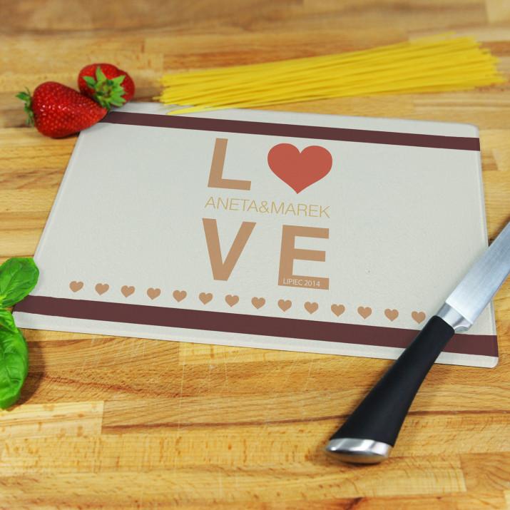 LOVE - deska do krojenia