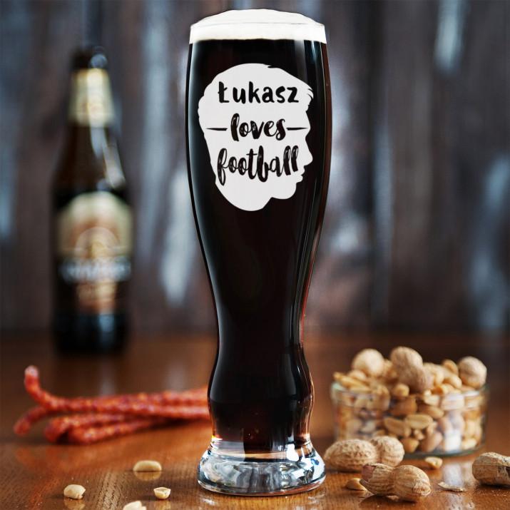 Love football - Grawerowana Szklanka do piwa
