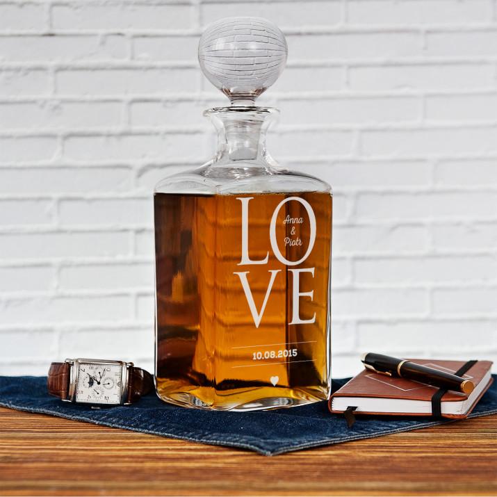 Love - grawerowana karafka do whisky