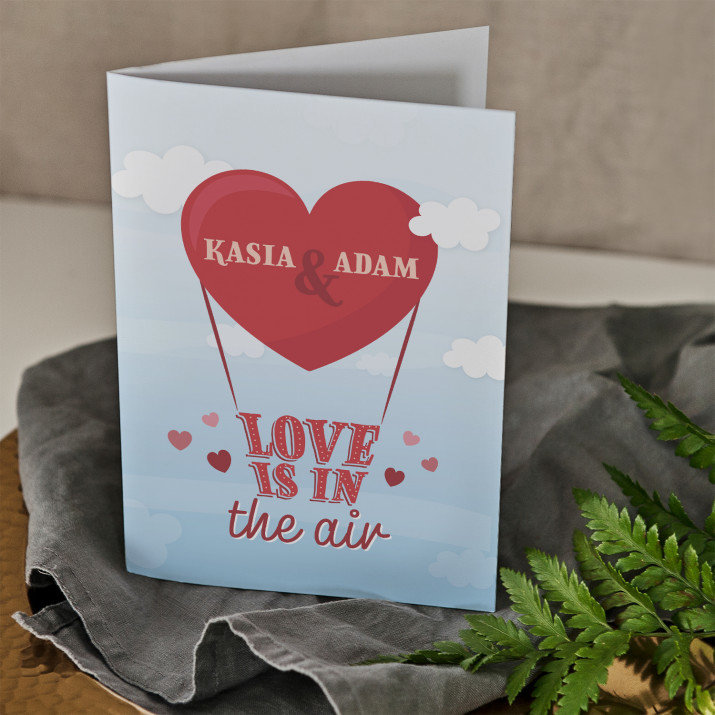 Love is in the air - kartka z życzeniami