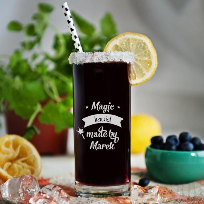 Magic liquid - Grawerowana Szklanka do drinków