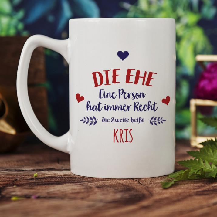 Ehe - personalisierte Tasse