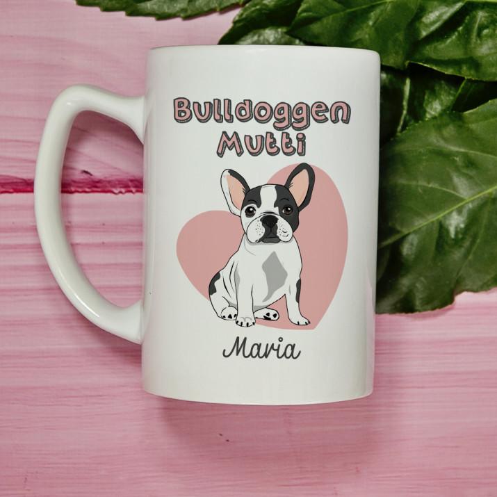 Bulldoggen-Mutti - personalisierte Tasse