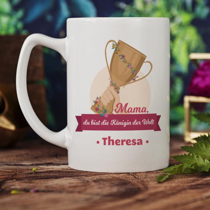 Königin der Welt - personalisierte Tasse