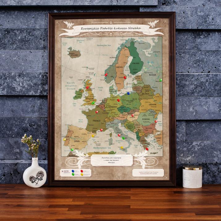 Mapa Podróży: Europa - przypnij swoje podróże