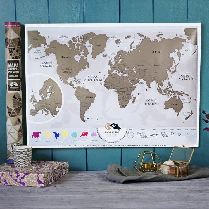 Mapa Zdrapka Świat mygiftdna