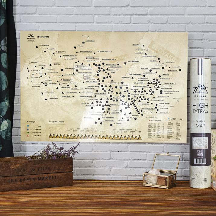 Mapa Zdrapka Tatry Wysokie - Mini