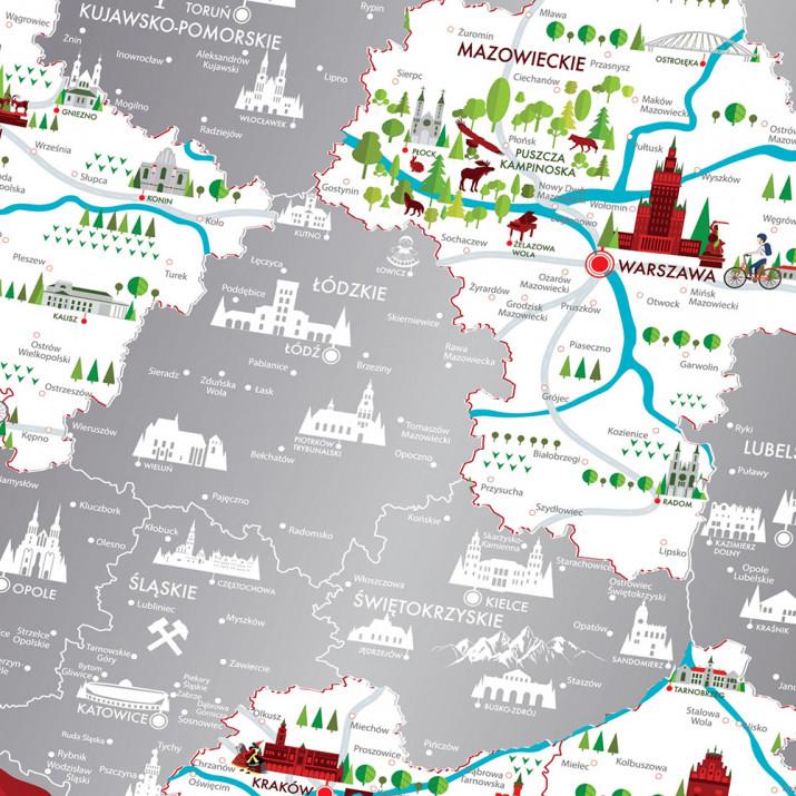 Mapa Zdrapka Travel Map Polska Mygiftdna Pl