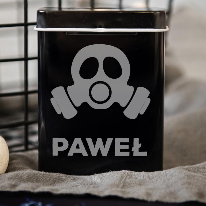 Maska gazowa - etui na papierosy z grawerem