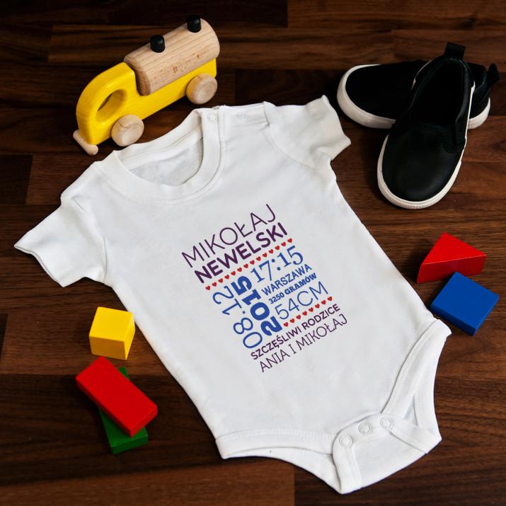 Metryczka - body niemowlęce
