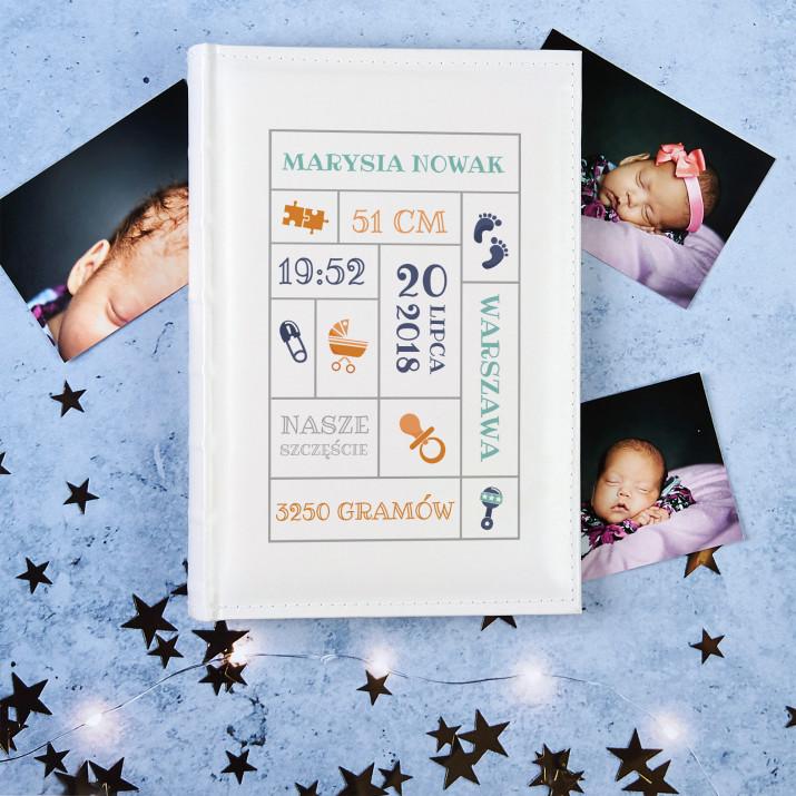 Metryczka Urodzenia - Personalizowany Album na zdjęcia