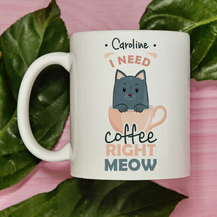 Meow - personalisierte Tasse