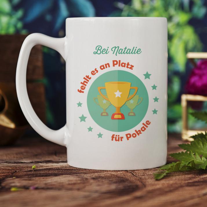 Platz für Pokale - personalisierte Tasse