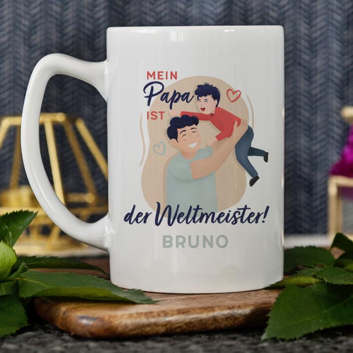 Weltmeister - personalisierte Tasse
