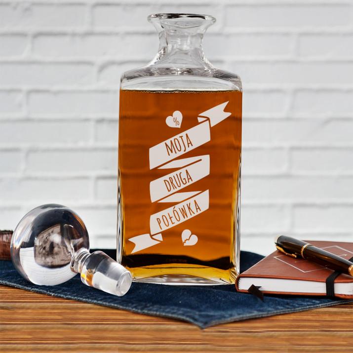 Moja druga połówka - grawerowana karafka do whisky
