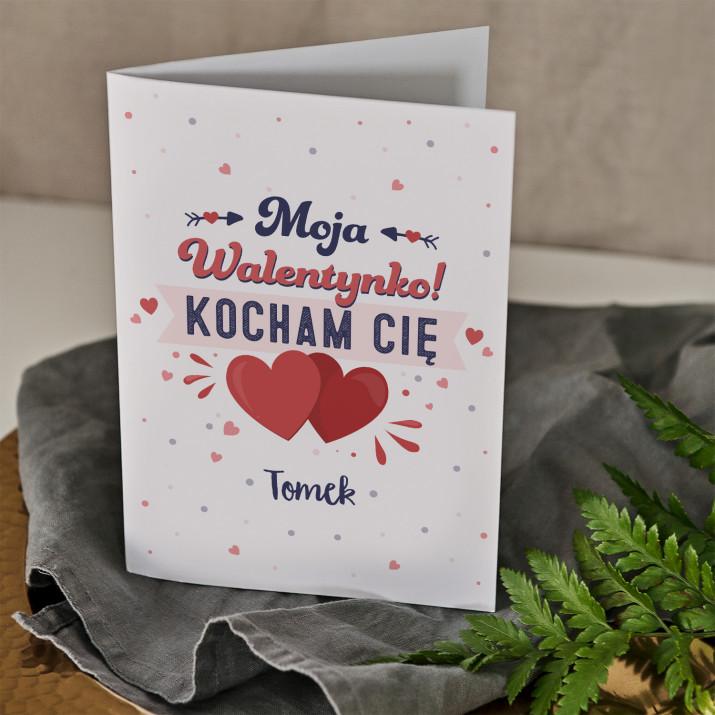 Moja walentynka - kartka z życzeniami