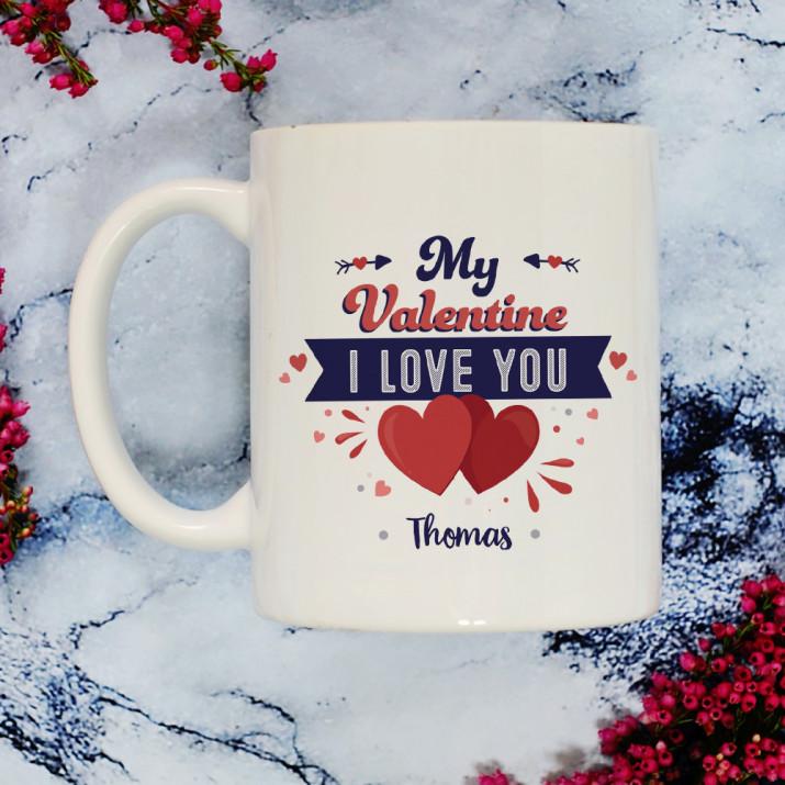 My Valentine - personalisierte Tasse