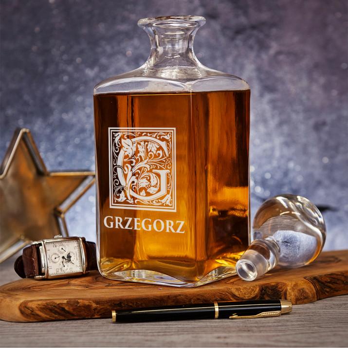 Monogram imię - grawerowana karafka do whisky