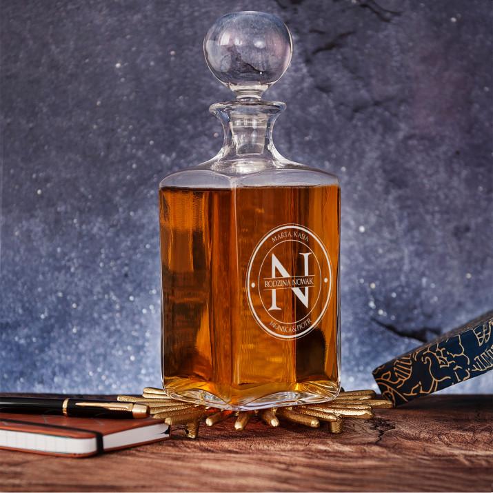 Monogram Rodzina - grawerowana karafka do whisky