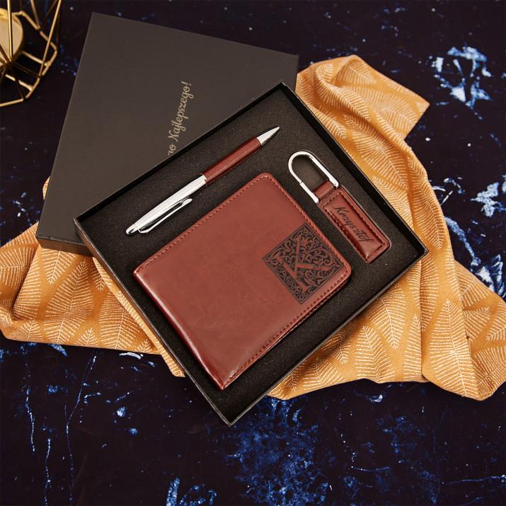 Monogram - zestaw z portfelem