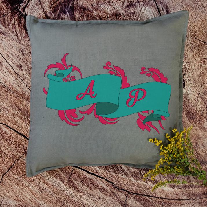Monogramy - Poduszka dekoracyjna