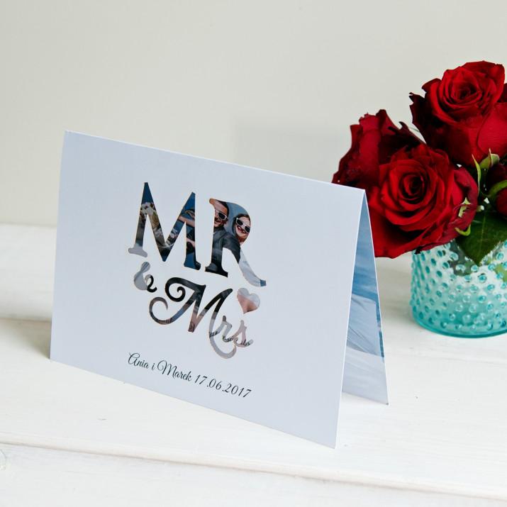 Mr&Mrs - kartka z życzeniami