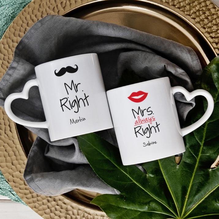 Mr & Mrs Right - Becher für Paare