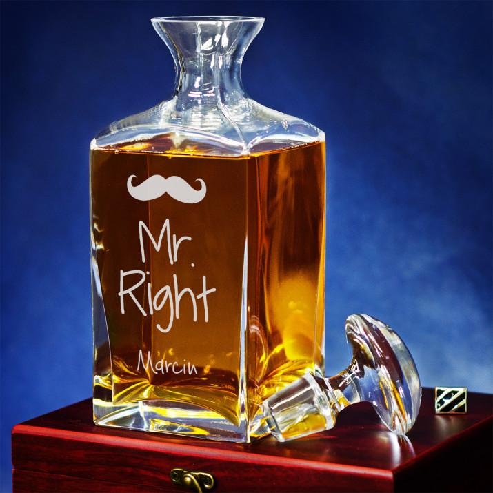 Mr Right - grawerowana karafka
