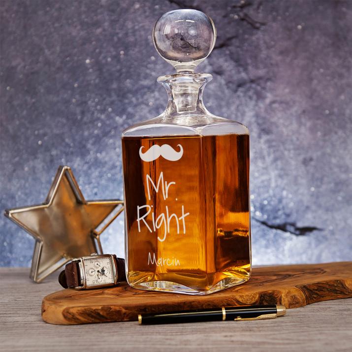 Mr Right - grawerowana karafka do whisky