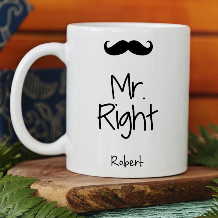 Mr. Right - Personalisierte Tasse