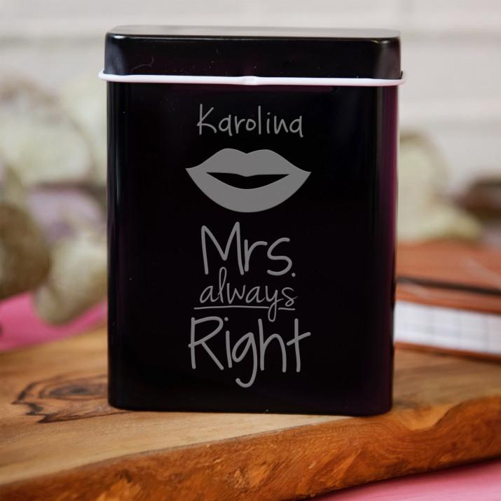 Mrs. always right - etui na papierosy z grawerem