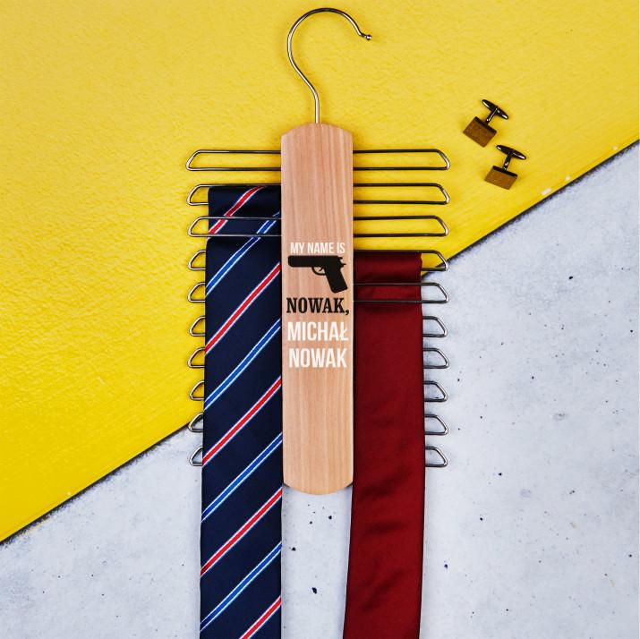My name is - Wieszak na krawaty