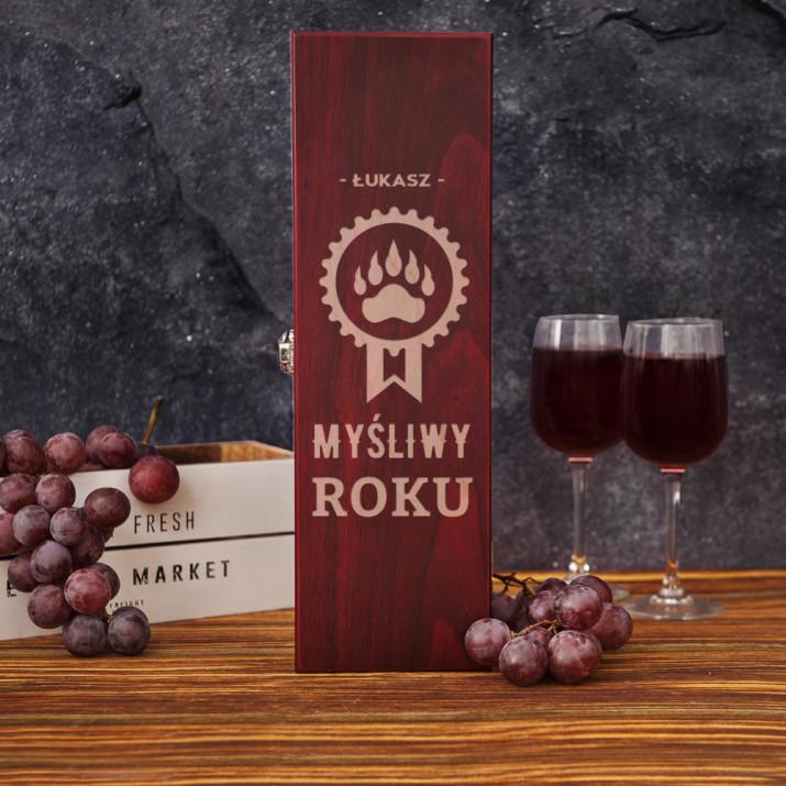 Myśliwy roku - Skrzynka na wino z akcesoriami