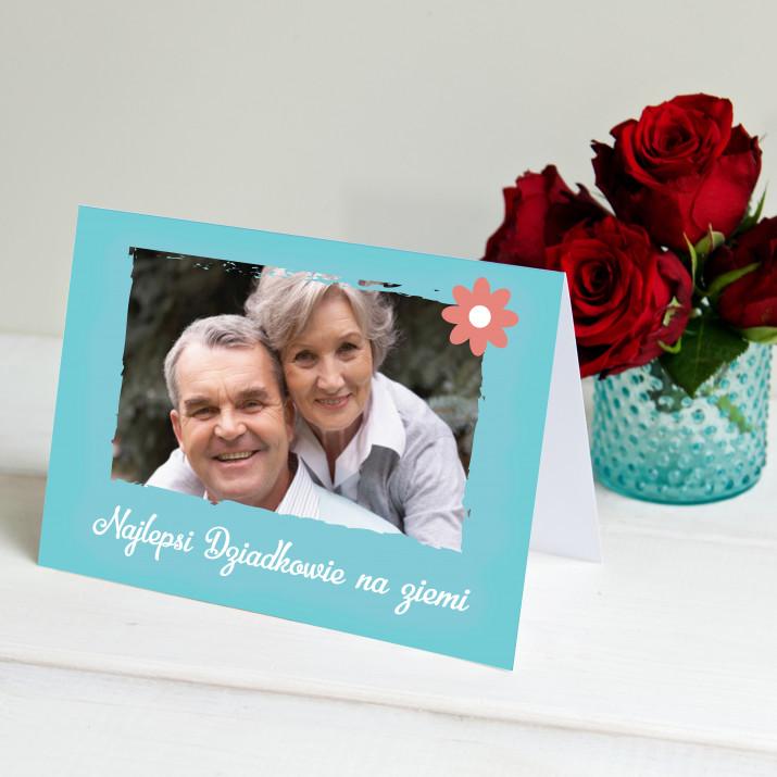 Najlepsi dziadkowie na ziemi - kartka z życzeniami