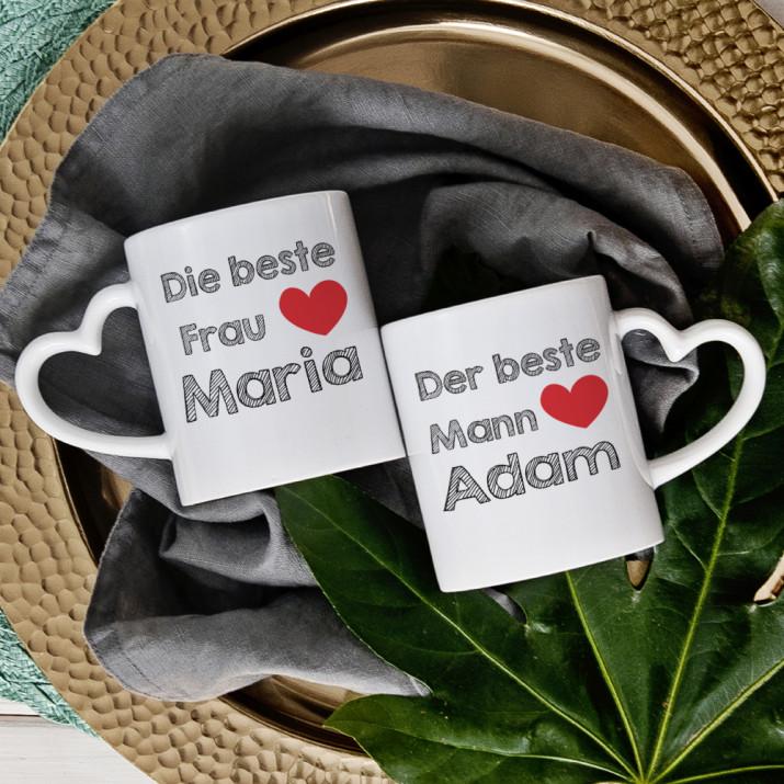 Bester Mann, die beste Frau - Tassen für Paare