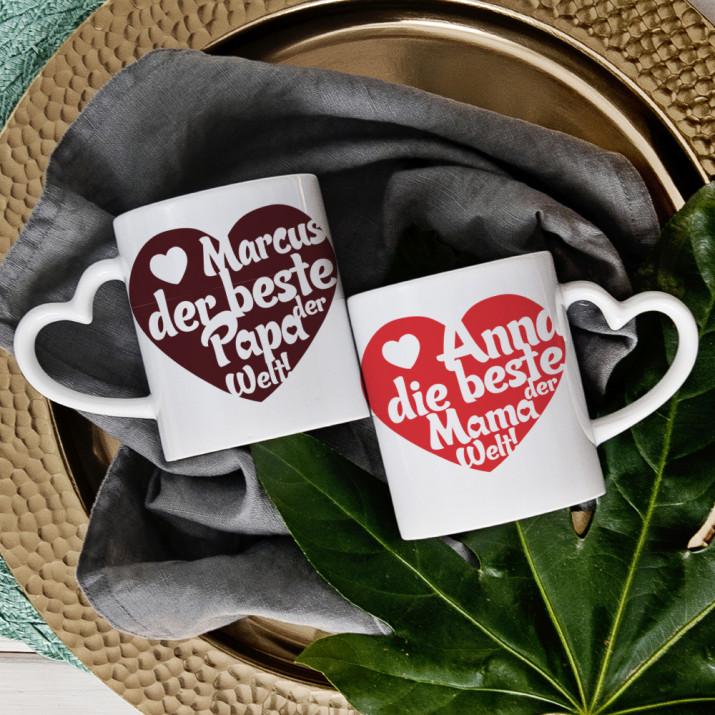 Beste Eltern - Tassen für Paare