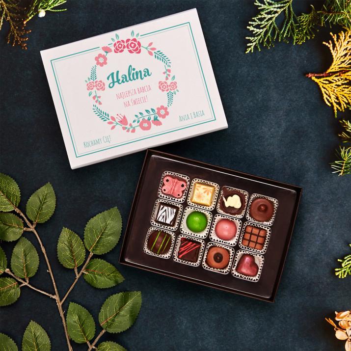 Najlepsza Babcia na świecie - Praliny z belgijskiej czekolady