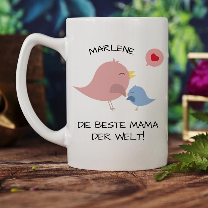 Beste Mama - Personalisierte Tasse