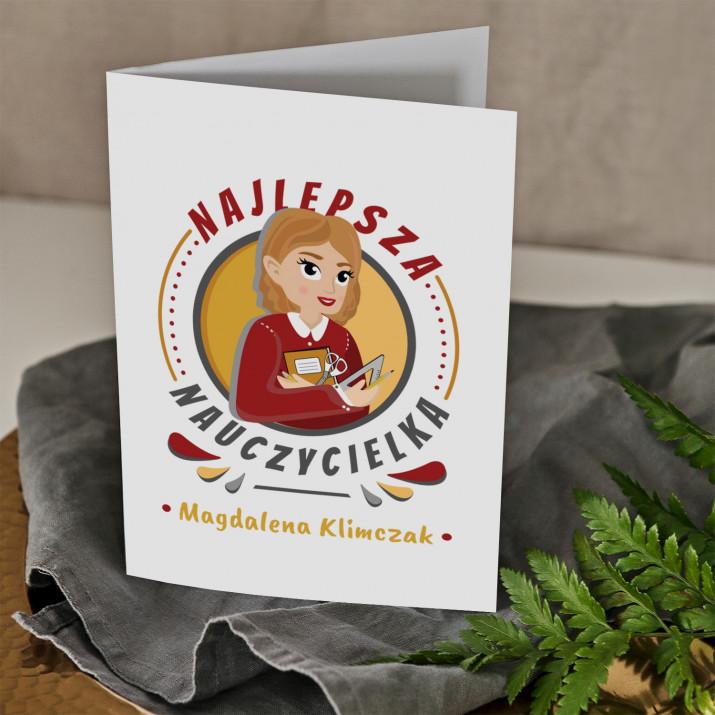 Najlepsza nauczycielka - kartka  z życzeniami