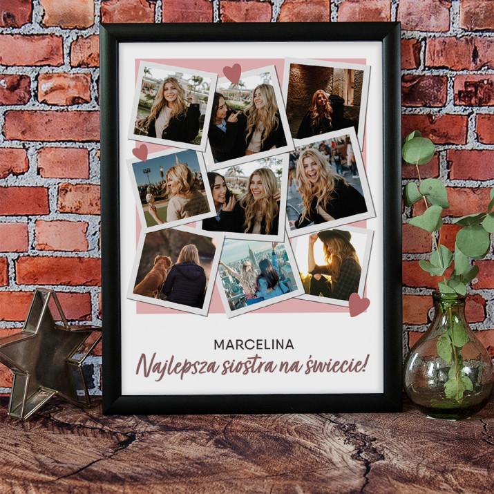 Prezent dla Siostry - Kolaż ze zdjęć