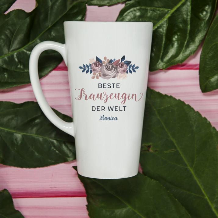 Beste Trauzeugin - personalisierte Tasse