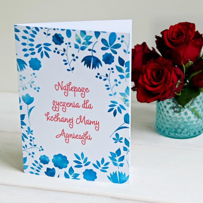Najlepsze życzenia - kartka z życzeniami