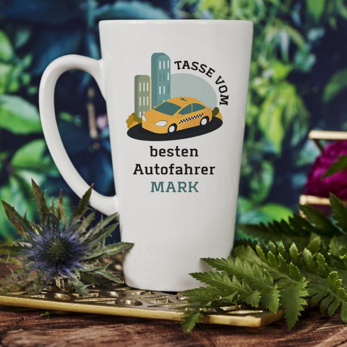 Bester Autofahrer - personalisierte Tasse