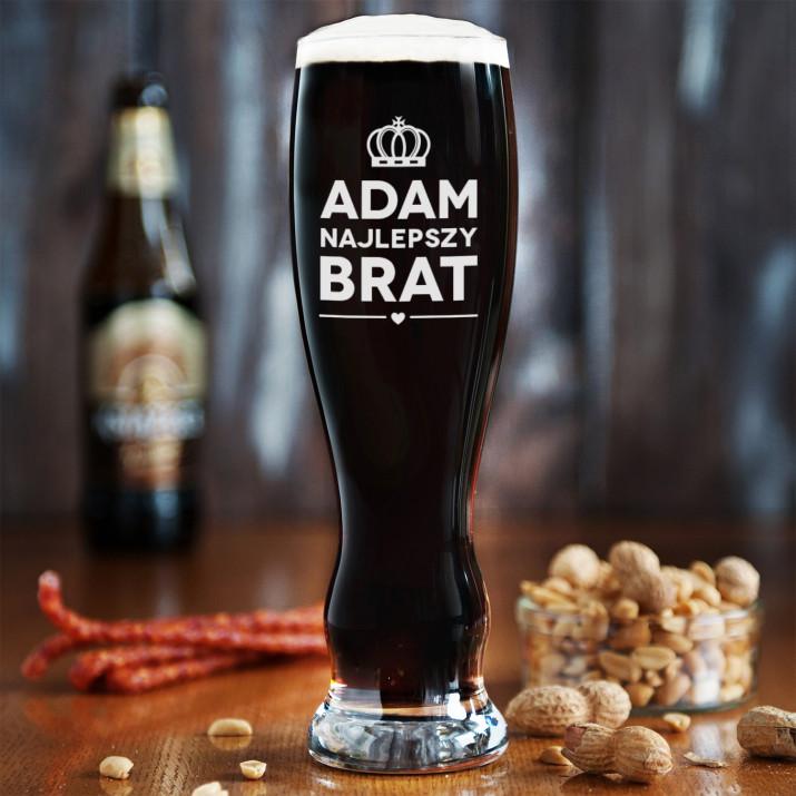 Najlepszy brat - Grawerowana Szklanka do piwa