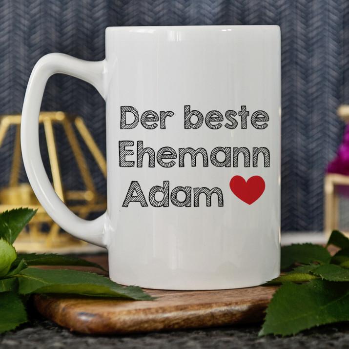 Bester Ehemann - Personalisierte Tasse