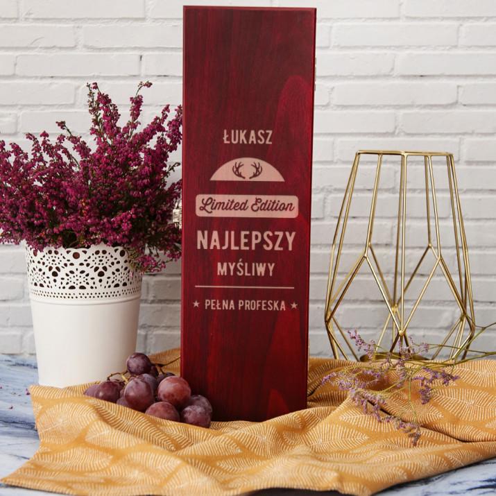Najlepszy myśliwy - Skrzynka na wino z akcesoriami