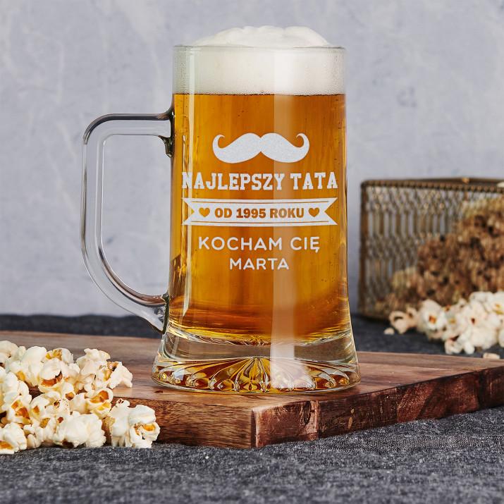 Najlepszy Tata -  Personalizowany Kufel