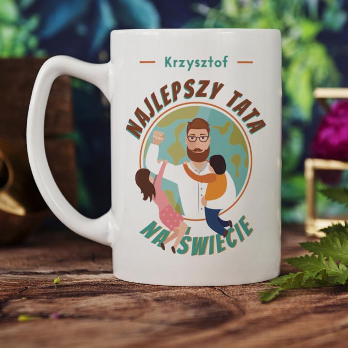 Najlepszy tata na świecie - Personalizowany Kubek