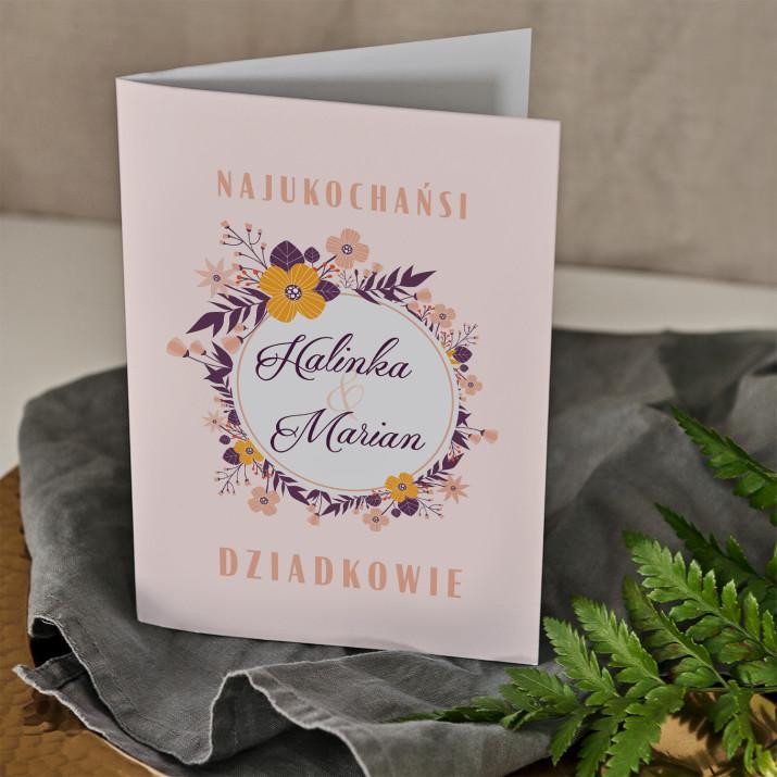Najukochańsi dziadkowie - kartka z życzeniami